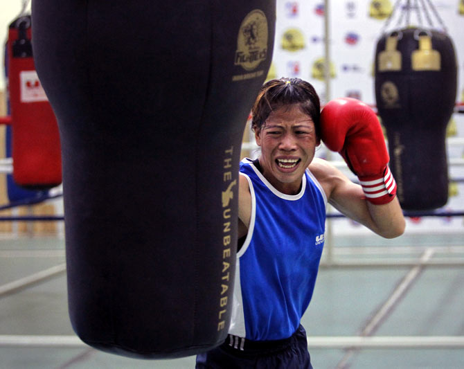 India's Olympic medallist boxer MC Mary Kom