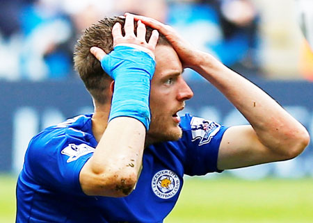 Rediff Sports - Cricket, Indian hockey, Tennis, Football, Chess, Golf - Leicester's Vardy gets additional one-game ban