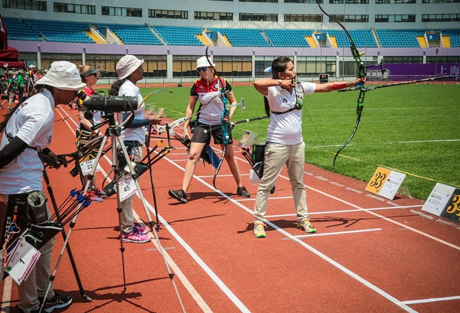 Rediff Sports - Cricket, Indian hockey, Tennis, Football, Chess, Golf - India's women's team in archery World Cup final