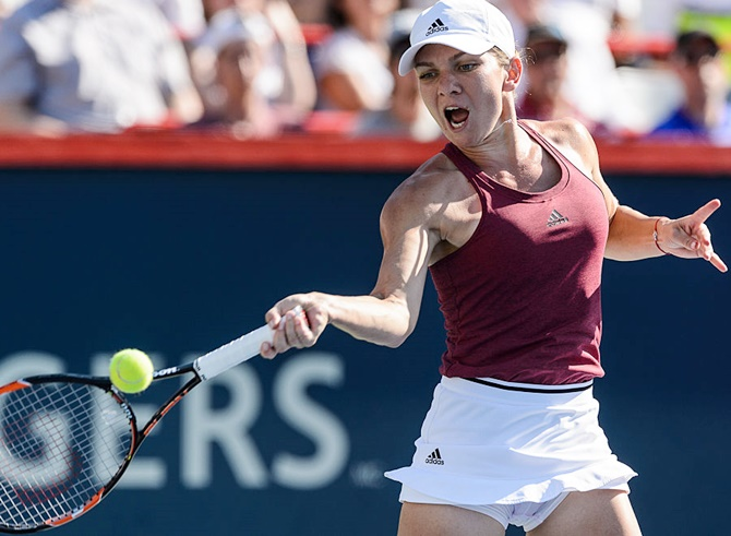 Rediff Sports - Cricket, Indian hockey, Tennis, Football, Chess, Golf - Rogers Cup: Halep beats erratic Keys to win title