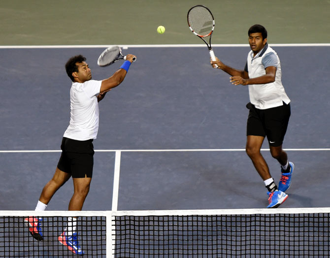 Rediff Sports - Cricket, Indian hockey, Tennis, Football, Chess, Golf - Rio 2016: Paes-Bopanna crash out in first round