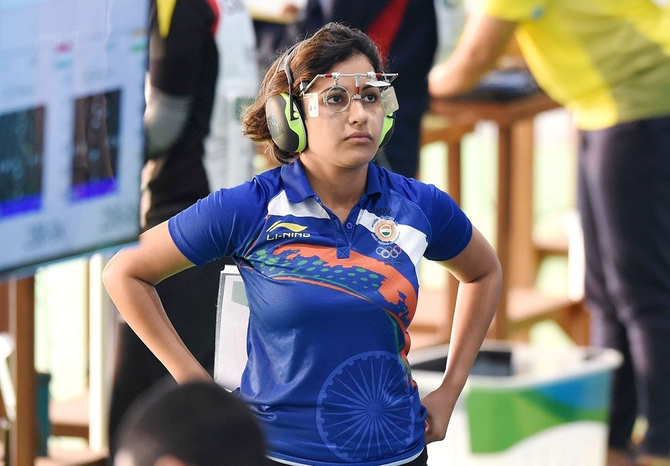 Indian shooter Heena Sidhu
