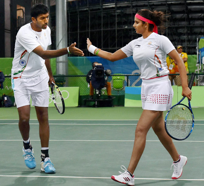 Rediff Sports - Cricket, Indian hockey, Tennis, Football, Chess, Golf - Indians at Rio Olympics: Focus on Sania, Bopanna on Day 8