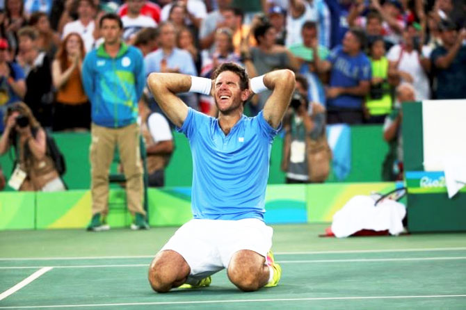 Rediff Sports - Cricket, Indian hockey, Tennis, Football, Chess, Golf - Rio: Del Potro beats Nadal, to face Murray in men's final