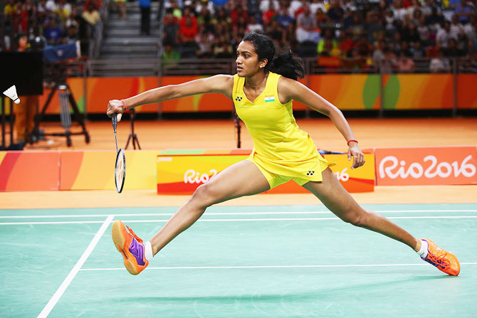 Rediff Sports - Cricket, Indian hockey, Tennis, Football, Chess, Golf - CRPF to appoint Sindhu as Commandant and brand ambassador