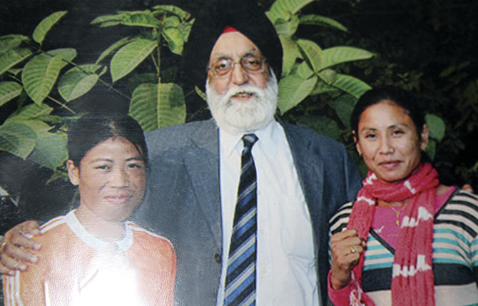 Mary Kom and Sarita Devi