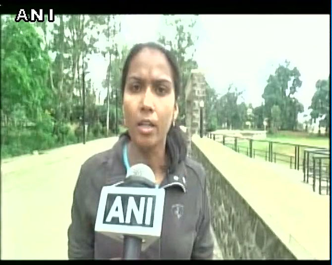 Kavita Raut being interviewed by ANI on Tuesday