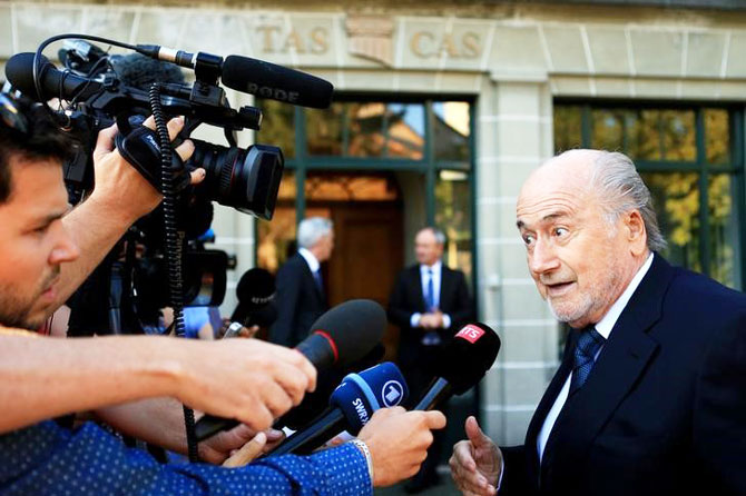 Rediff Cricket - Indian cricket - Blatter appears at CAS for appeal against ban