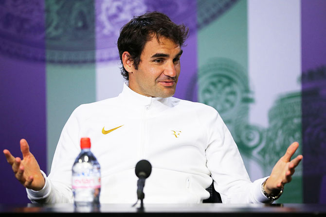 Rediff Sports - Cricket, Indian hockey, Tennis, Football, Chess, Golf - Federer hoping to be 'super strong' on come back