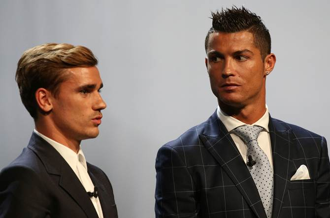 Rediff Cricket - Indian cricket - Ronaldo says Griezmann deserved Best Player in Europe award