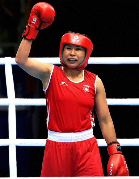 Rediff Cricket - Indian cricket - Boxer Sarita Devi producing champions in her academy