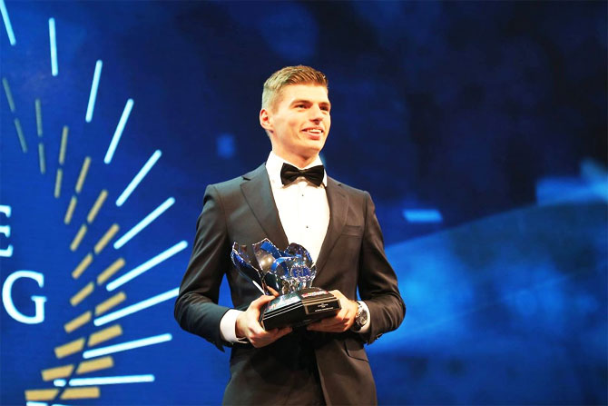 Rediff Sports - Cricket, Indian hockey, Tennis, Football, Chess, Golf - Verstappen a double winner again at FIA awards