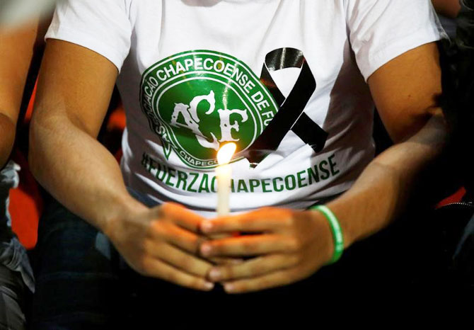 Rediff Sports - Cricket, Indian hockey, Tennis, Football, Chess, Golf - Brazil invite Colombia to play in Chapecoense charity match