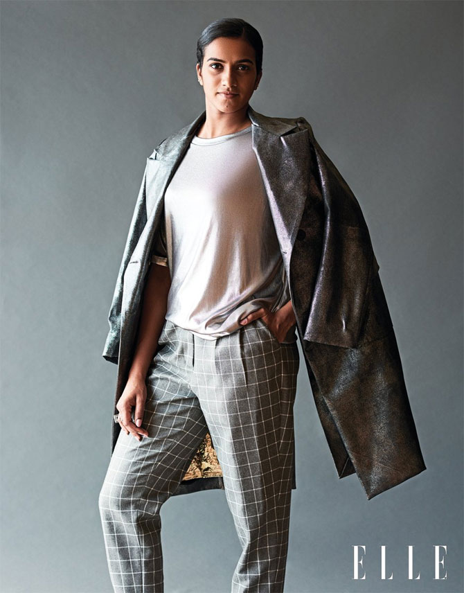 The Stylish Sindhu seen here in a Elle India photoshoot. The Hyderabadi shuttler is a regular 21-year-old, enjoys being connected to fans through social media