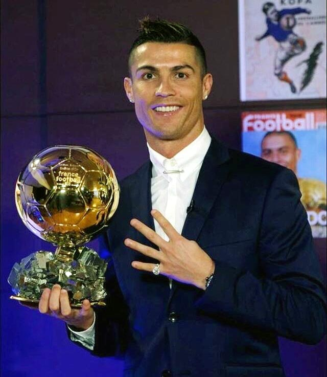 Ronaldo's golden year rewarded with fourth Ballon d'Or