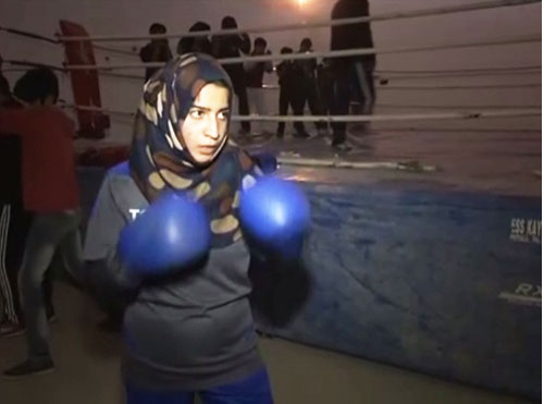 Andleeb Zehra at a training centre