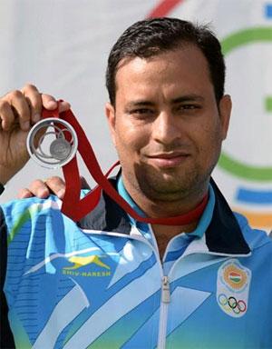 Rediff Sports - Cricket, Indian hockey, Tennis, Football, Chess, Golf - Asian qualifiers: Rajput seals Olympics shooting berth