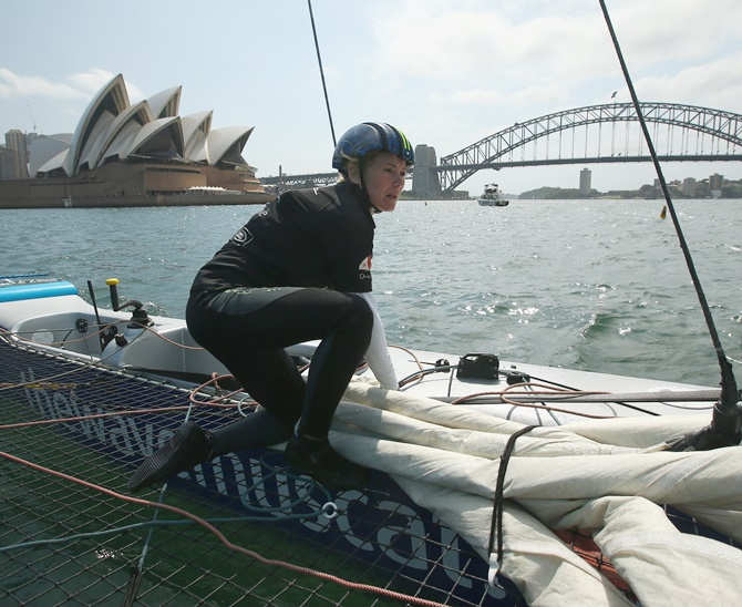 Rediff Sports - Cricket, Indian hockey, Tennis, Football, Chess, Golf - Can Sarah carve out a new career in male-dominated Extreme Sailing?