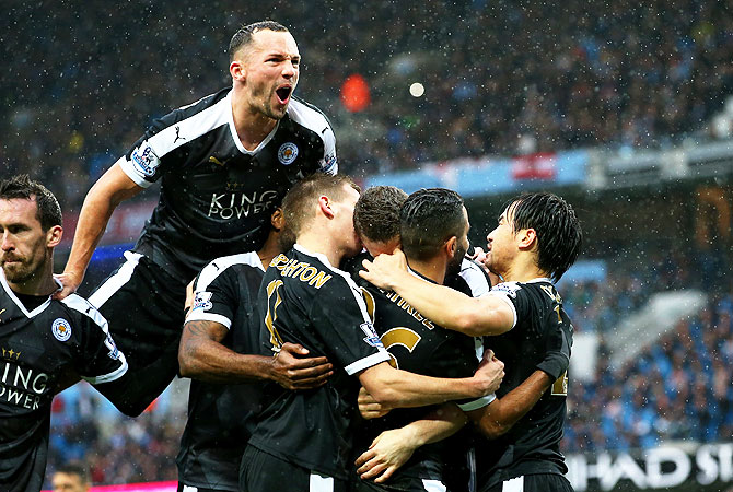 Rediff Sports - Cricket, Indian hockey, Tennis, Football, Chess, Golf - 'Pressure now on rivals' as Leicester vow to stay calm in title hunt