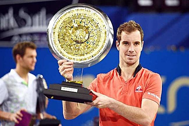 Rediff Sports - Cricket, Indian hockey, Tennis, Football, Chess, Golf - Tennis Roundup: Gasquet retains Montpellier title; Agut wins in Sofia