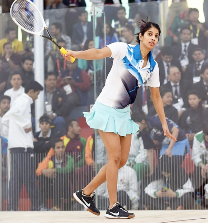 Rediff Sports - Cricket, Indian hockey, Tennis, Football, Chess, Golf - Chinappa gets better of 'aggressive' Pakistani rival; clinches gold