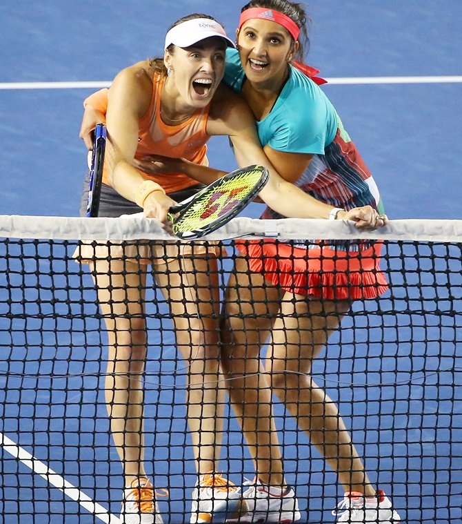 Rediff Cricket - Indian cricket - 37 and counting! Sania-Hingis extend winning streak