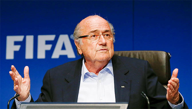 Rediff Sports - Cricket, Indian hockey, Tennis, Football, Chess, Golf - Defiant Blatter regrets not reforming FIFA