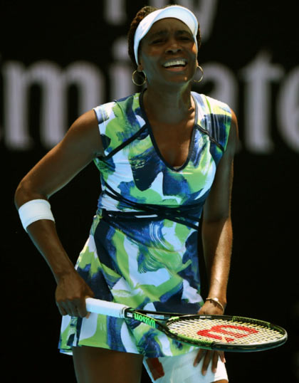 Rediff Sports - Cricket, Indian hockey, Tennis, Football, Chess, Golf - Venus upset by Kazakhstan's Putintsevain at Charleston