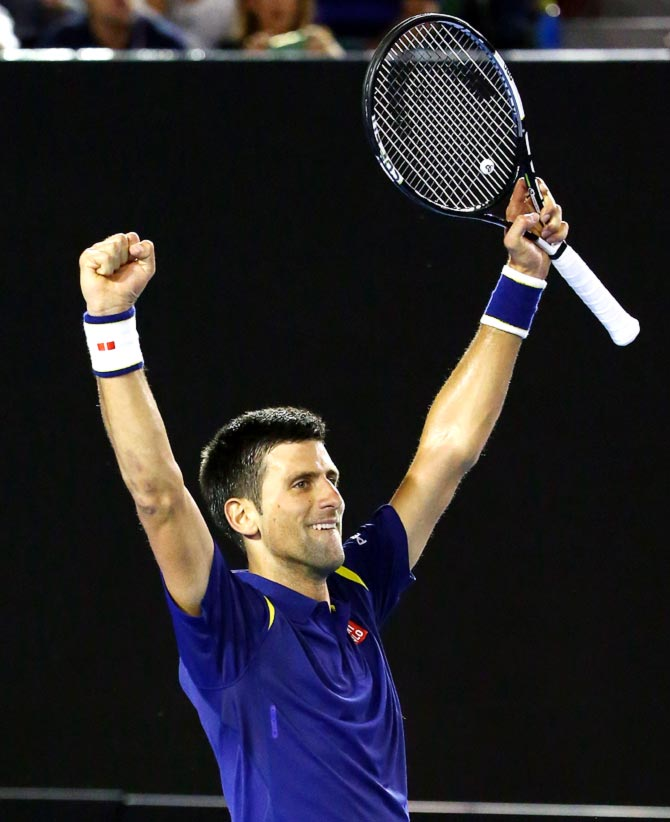 Rediff Sports - Cricket, Indian hockey, Tennis, Football, Chess, Golf - ATP rankings: Record-breaking Djokovic maintains top spot