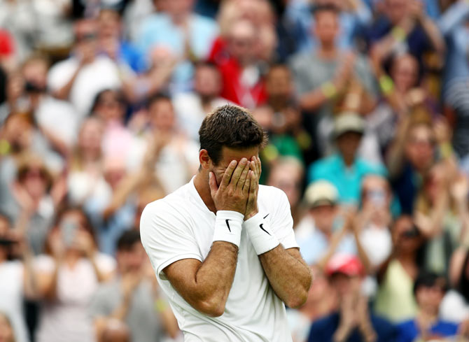 Rediff Sports - Cricket, Indian hockey, Tennis, Football, Chess, Golf - Del Potro returns from wilderness to knock out Wawrinka
