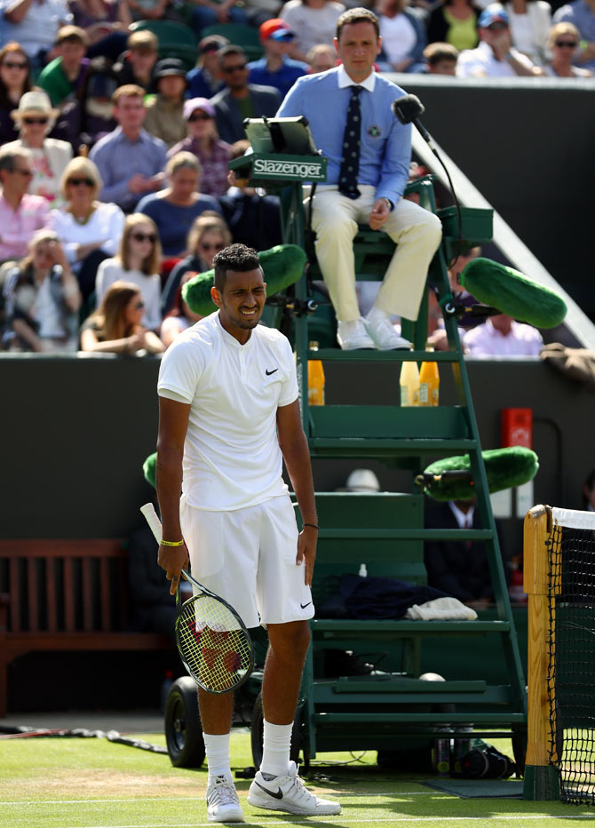 Kyrgios involved in heated row with journalists at Wimbledon