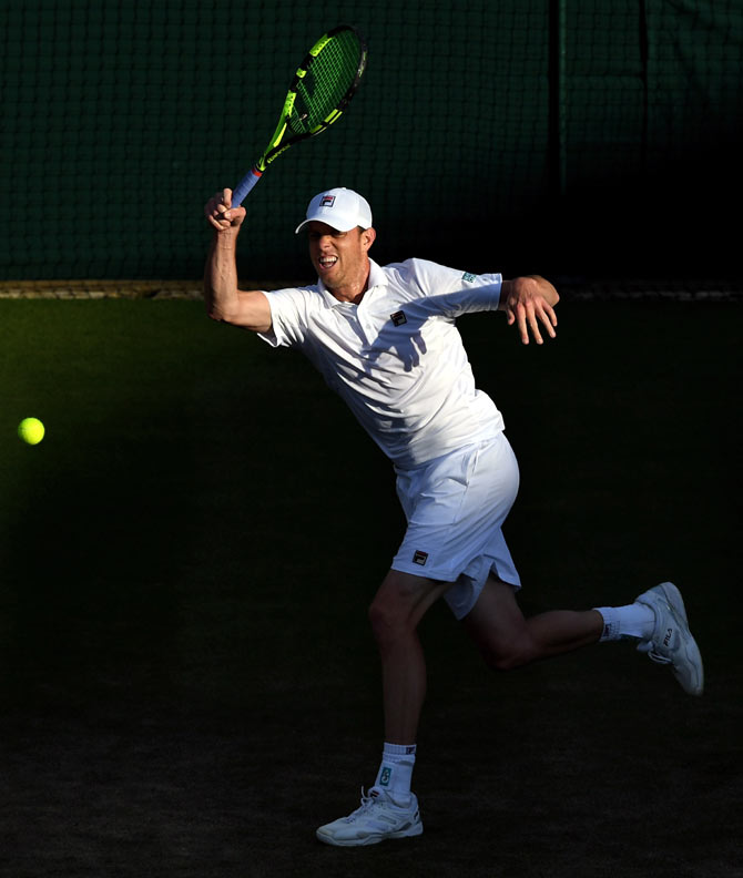 Saved by the rain, Djokovic's hopes hanging by a thread at Wimbledon