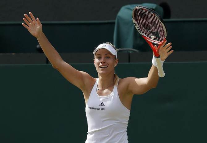 Serena thrashes Vesnina, meets Kerber in Wimbledon final