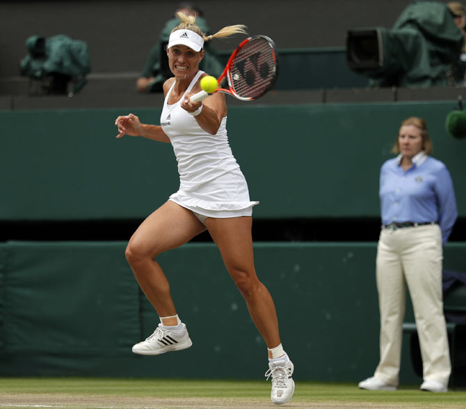Serena downs Kerber to win Wimbledon title, equals Graf's record