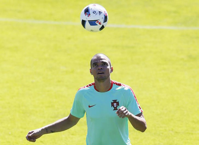 Rediff Sports - Cricket, Indian hockey, Tennis, Football, Chess, Golf - Euro final: Portugal boosted by return of Pepe to training