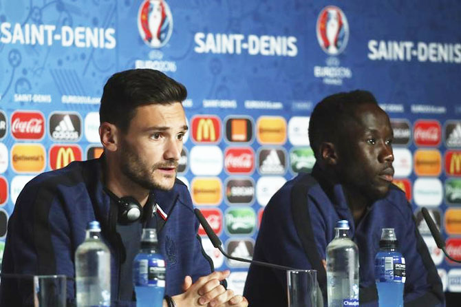 Rediff Sports - Cricket, Indian hockey, Tennis, Football, Chess, Golf - France's Sagna, Lloris relish end of long journey back to the top