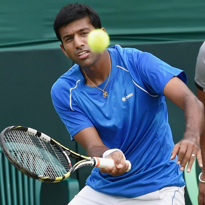 Rediff Sports - Cricket, Indian hockey, Tennis, Football, Chess, Golf - Youngsters need to improve on fitness front, says Bopanna