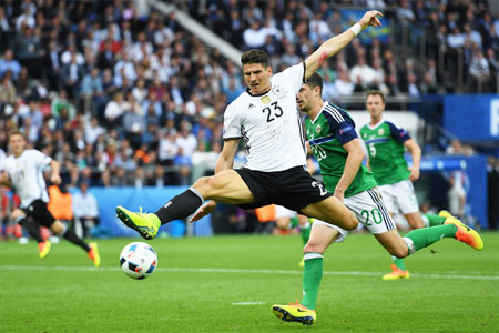 Mario Gomez in action during a Euro 2016 match