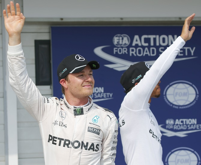 Rediff Sports - Cricket, Indian hockey, Tennis, Football, Chess, Golf - Hungarian Grand Prix: Rosberg snatches pole from Hamilton