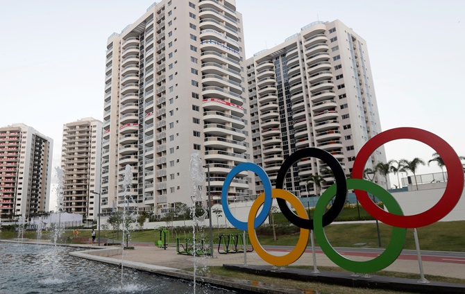 Rediff Sports - Cricket, Indian hockey, Tennis, Football, Chess, Golf - PHOTOS: Rio Olympics open doors at Athletes Village