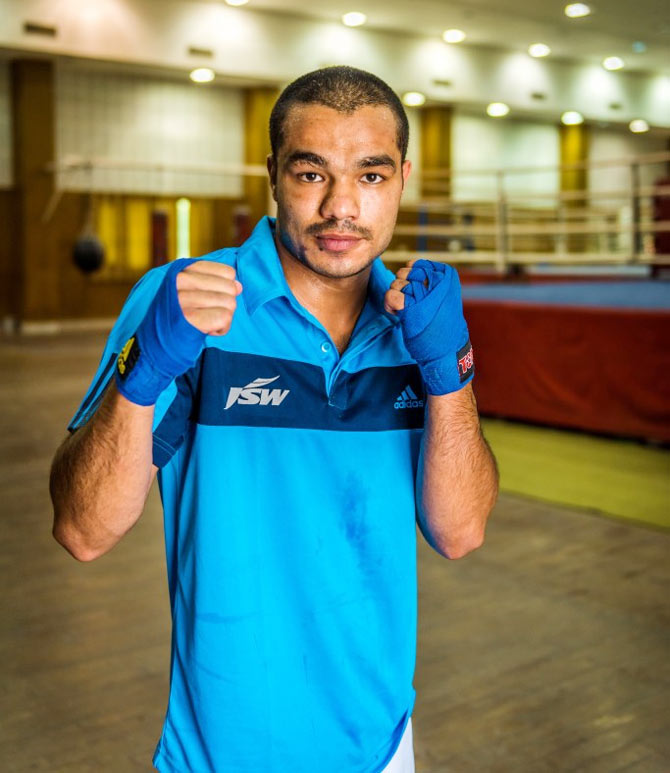 Rediff Sports - Cricket, Indian hockey, Tennis, Football, Chess, Golf - What spurs this Indian boxer to triumph at Rio Olympics...