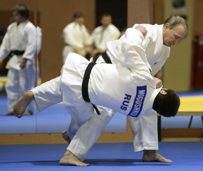 Rediff Sports - Cricket, Indian hockey, Tennis, Football, Chess, Golf - Did Putin play a role in getting Russian judo team approval for Rio Games?