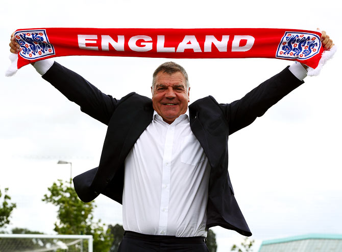 Rediff Sports - Cricket, Indian hockey, Tennis, Football, Chess, Golf - Will new manager Allardyce convert England's potential into reality?