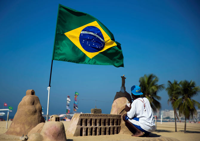 Rediff Sports - Cricket, Indian hockey, Tennis, Football, Chess, Golf - Why most Brazilians believe Rio Olympics will hurt the country