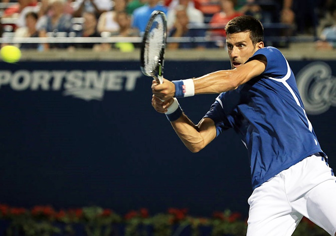 Rediff Sports - Cricket, Indian hockey, Tennis, Football, Chess, Golf - Rogers Cup: Djokovic joins tops seeds in quarters