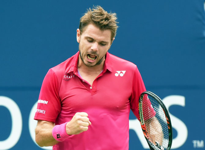 Rediff Sports - Cricket, Indian hockey, Tennis, Football, Chess, Golf - Rogers Cup: Wawrinka, Nishikori in last four; Halep, Kerber to face off