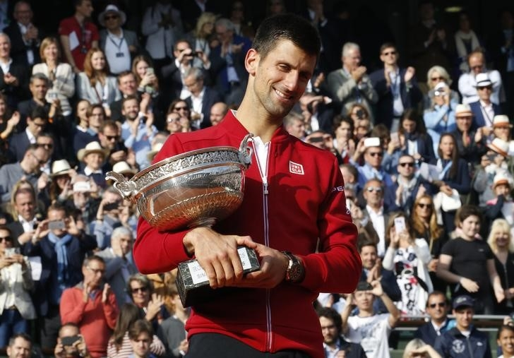 Novak Djokovic won his maiden French Open trophy in 2016