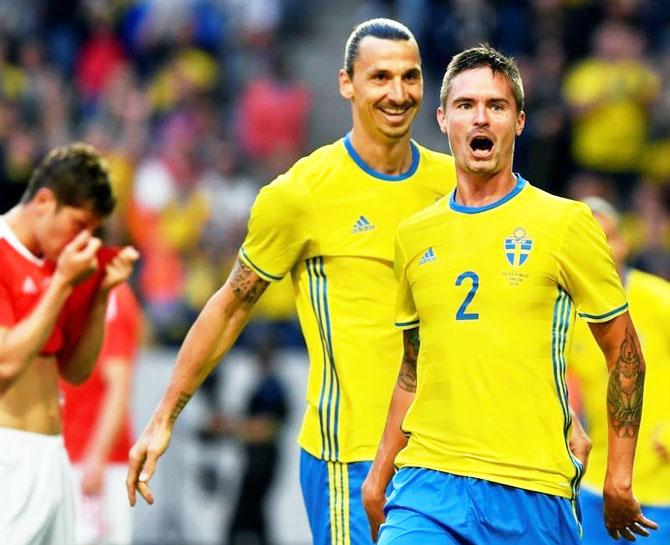 Rediff Sports - Cricket, Indian hockey, Tennis, Football, Chess, Golf - Euro warm-ups: Zlatan stars in Sweden's win; Czech stunned