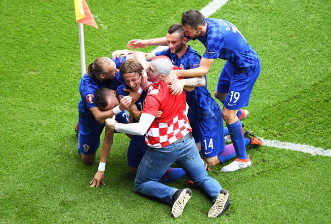 Rediff Sports - Cricket, Indian hockey, Tennis, Football, Chess, Golf - Euro: Magical Modric helps Croatia down Turkey 1-0, exact 2008 revenge