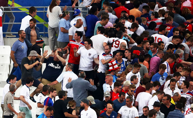 Rediff Sports - Cricket, Indian hockey, Tennis, Football, Chess, Golf - Russians ready for 'ultra-violent' action involved in Euro 2016 clashes